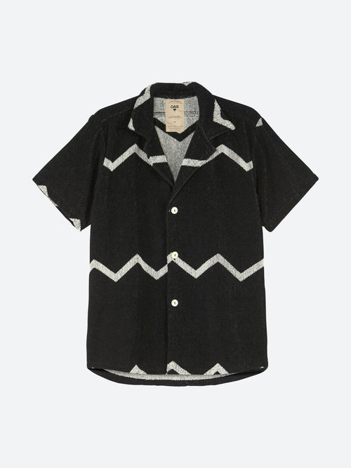 Black ZigTerry Button Up