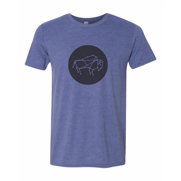 Buffalo Constellation Circle Tee- Blue/Black