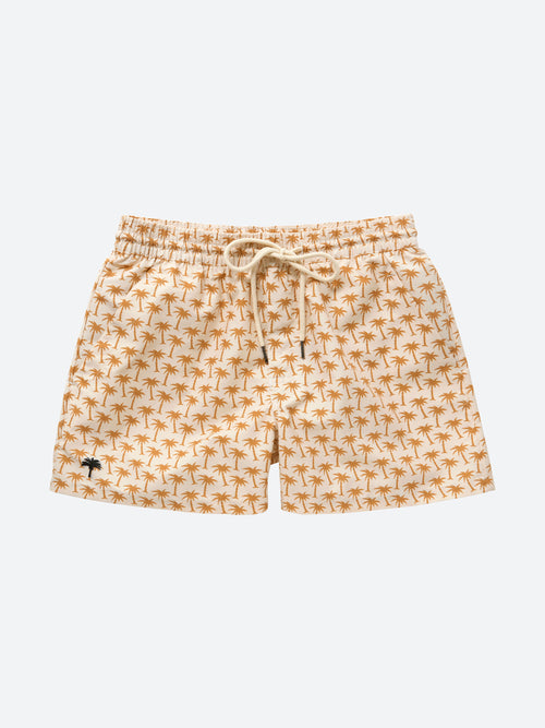 Beige Palm Swim Shorts