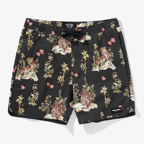 Jared Mell Elastic Boardshort - Dirty Black Print