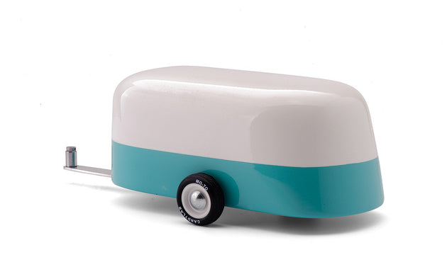 Modern Vintage Wood Toy - Blue Camper