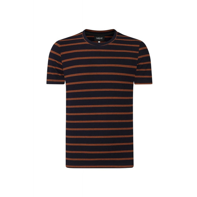 Chad Striped Tee - Navy