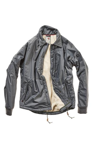 Coach's Nylon Shirt Jacket - Dark Grey