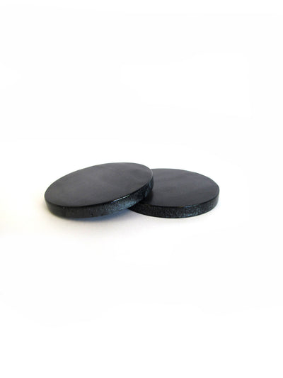 Metallic Black Coasters, Set Of 4