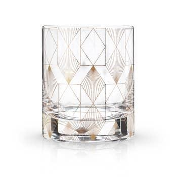 Deco Tumblers, Set of 2 - Diamonds