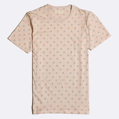 Acid Smile Printed T-Shirt - Dusty Pink