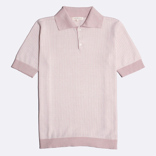 Blakey Short Sleeve Polo - Rose Dust/Snow White