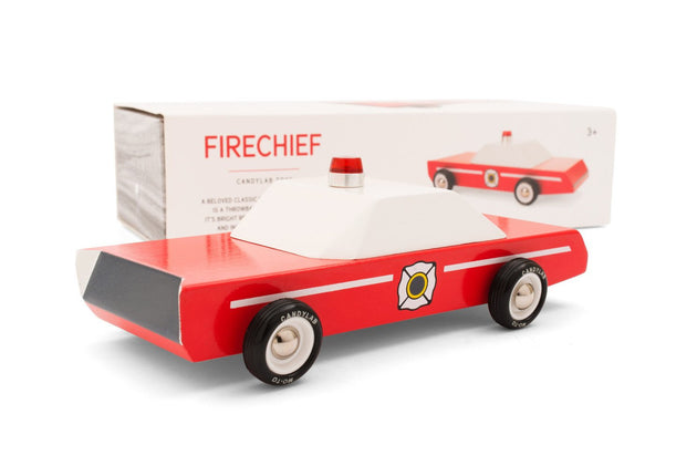 Modern Vintage Wood Toy - Fire Chief
