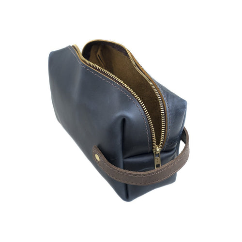 Leather Dopp Kit - Ocean