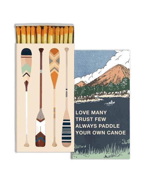 Paddle Your Canoe - Wooden Matches