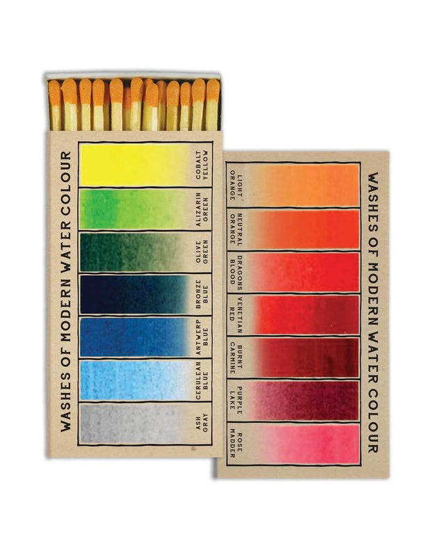 Wooden Matches - Watercolors