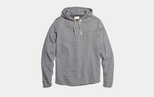 Double Knit Hoodie - Magnet/White Stripe