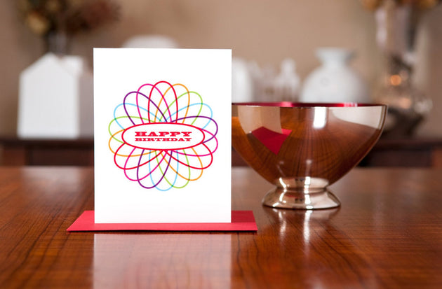 Spirograph Birthday Day Card