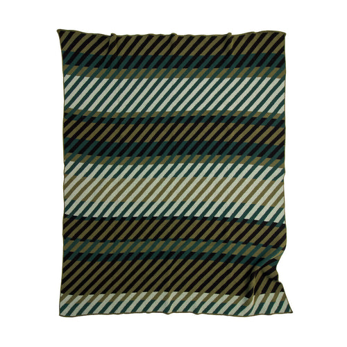 Modern Throw - Green Stripes