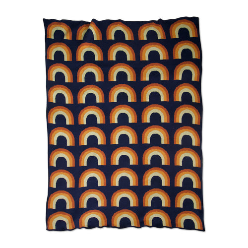 Toto Throw - Navy (mini rainbows)