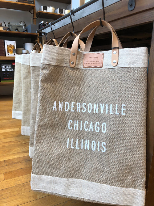 Andersonville Chicago, Illinois Market Bag - Natural