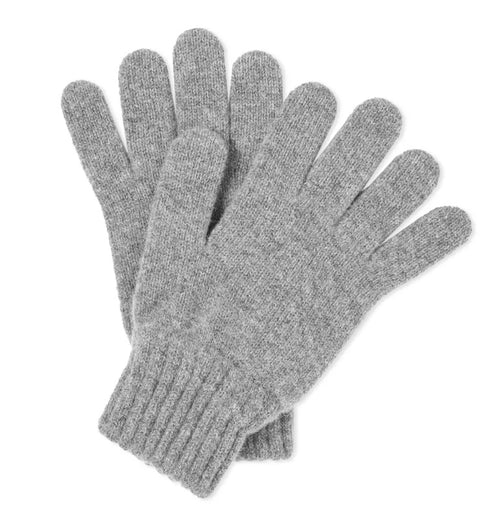 Lambswool Gloves - Grey