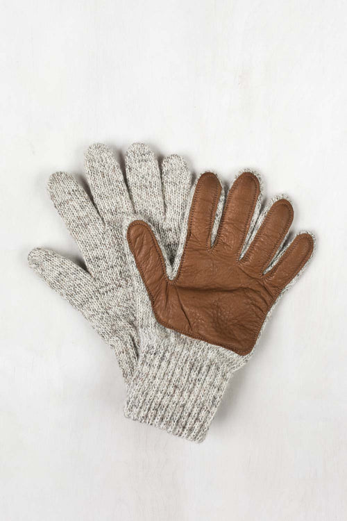 Wool/Nylon Glove - Tan Leather