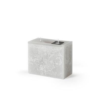 Rectangle 2 Wick Pillar Candle - Linen