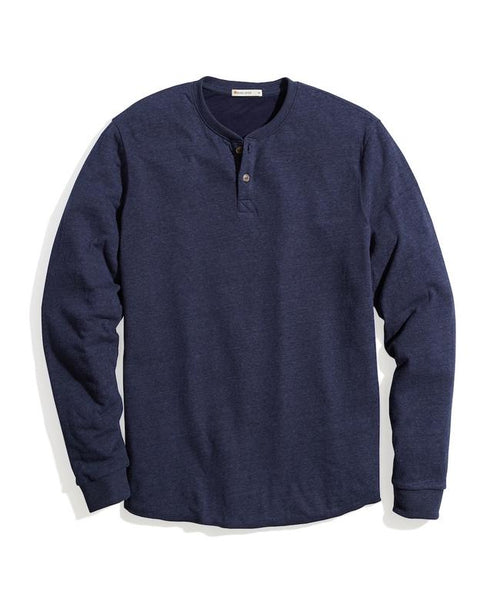Double Knit Henley - Navy Blazer