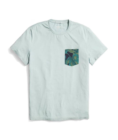 Rosarito Pocket Tee - Surf Blue