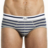 Traditional Brief - Nautical Stripe, Grey