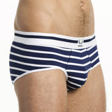 Traditional Brief - Nautical Stripe, Navy