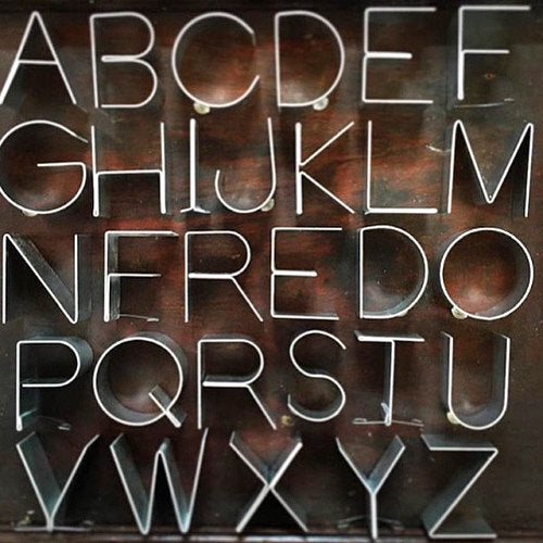 "Free Standing Metal Dimensional Letters, 4"" - Silver"