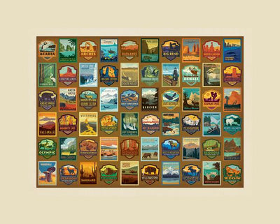 National Park Puzzle - Patches