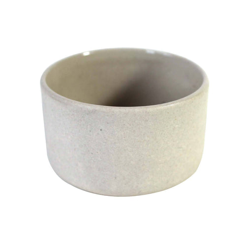 Round Stoneware Cellar/Incense Cone Holder - White