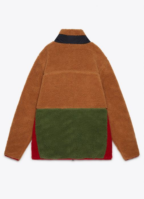 Mattawa Colourblock Fleece - Tan Brown