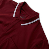 Active Puremeso Tipped Polo - Burgundy