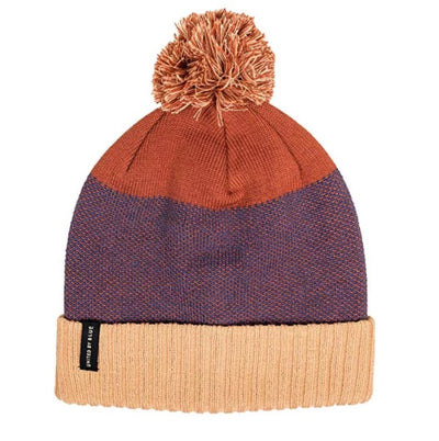 Birdseye Pom Beanie - Desert Red/Putty