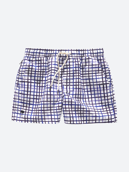 Blue Strokes Swim Shorts