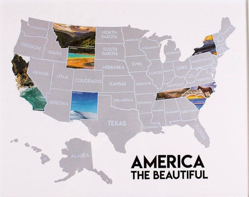 America the Beautiful Scratch-Off Poster