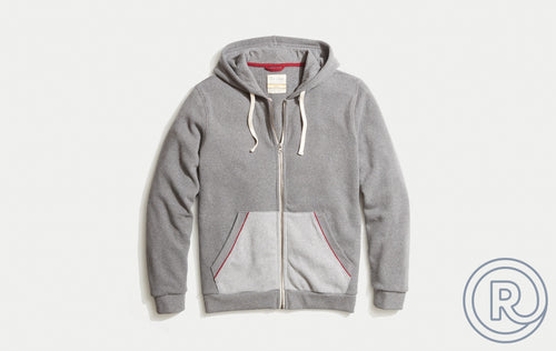 Re-Spun Zip Hoodie - Heather Grey