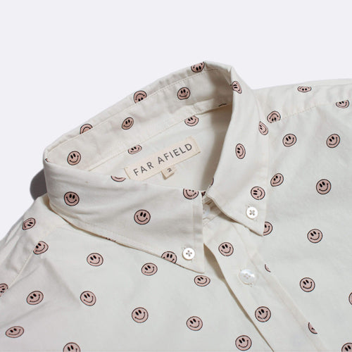 Mod Button Up Short Sleeve Shirt - Acid Smile