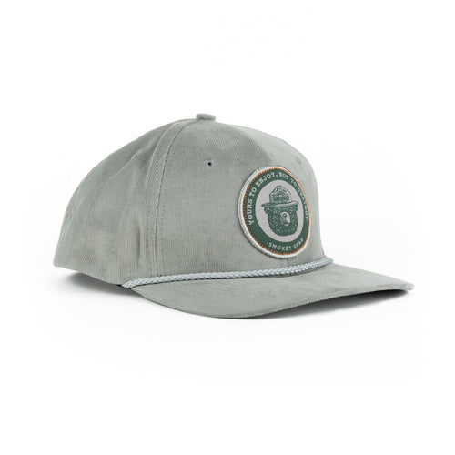 COMING SOON!  Smokey Bear Cap - Gray Corduroy
