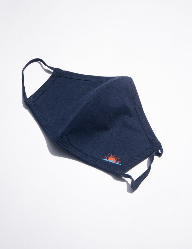 Sun and Wave Mask - Navy