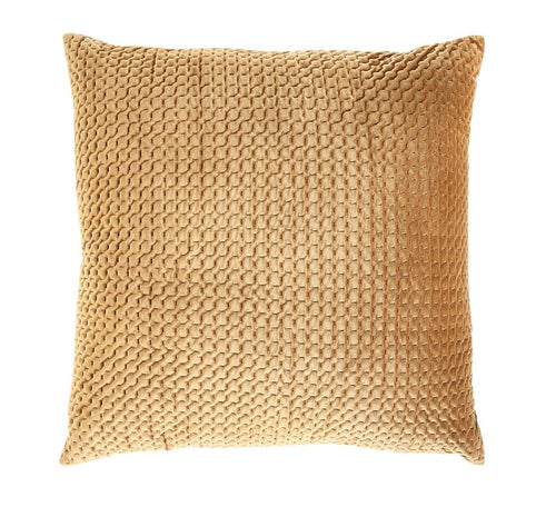 Square Velvet Pillow - Amber