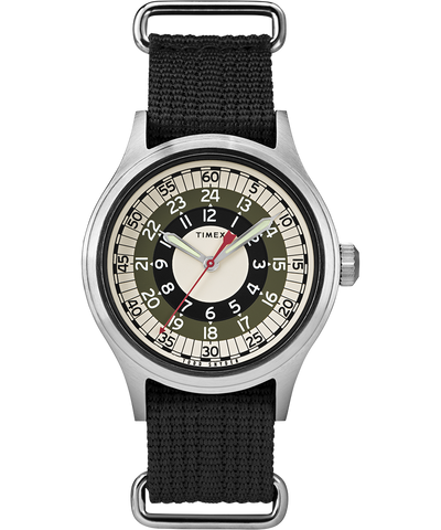 Timex x Todd Snyder MOD Inspired 40mm Watch - Silver/Green/Black