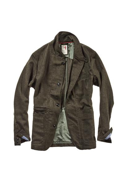 Prof Trap Blazer - Dark Loden Mini Herringbone