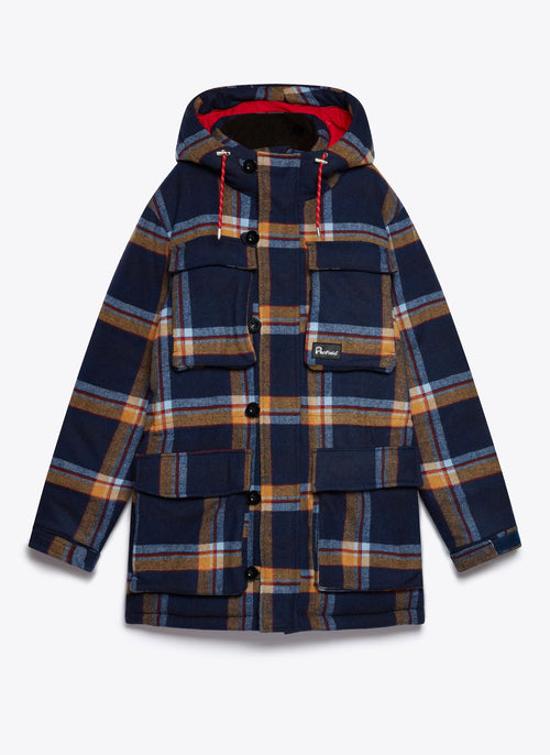 Maple Check Parker Jacket - Navy