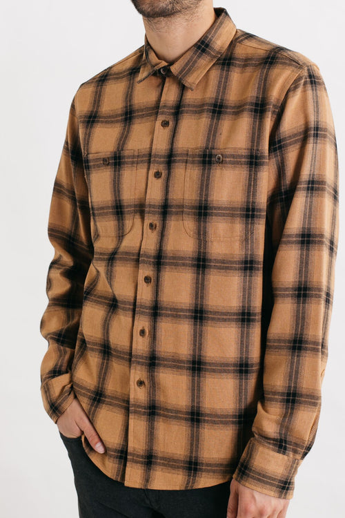 Winslow Long Sleeve Button Up - Ochre Plaid