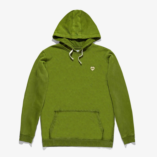 Heart Graphic Fleece - Green