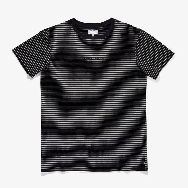 Compilation Deluxe Tee - Dirty Black With Stripes