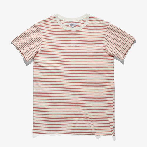 Compilation Deluxe Tee - Off White With Red Stripes