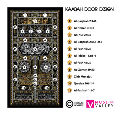Kaabah Door with Frame (Medium)