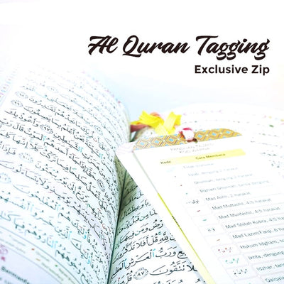 Al-Quran Tagging Exclusive Zip - A5 Size Purple