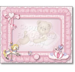 Baby Girl Bear Personalized Art